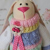Куклы и игрушки ручной работы. Ярмарка Мастеров - ручная работа Тильда Заяц. Заяц из флиса в теплом свитере. Handmade.