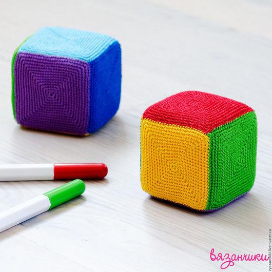 Развивающие игрушки ручной работы. Ярмарка Мастеров - ручная работа. Купить Мягкие кубики. Handmade. Комбинированный, кубик, развивающие игрушки