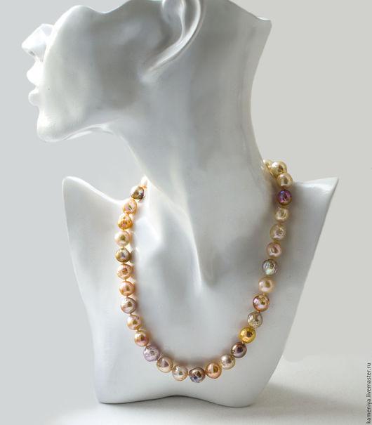 Колье, бусы ручной работы. Ярмарка Мастеров - ручная работа. Купить Ожерелье из жемчуга Касуми. Handmade. Жемчуг мультиколор