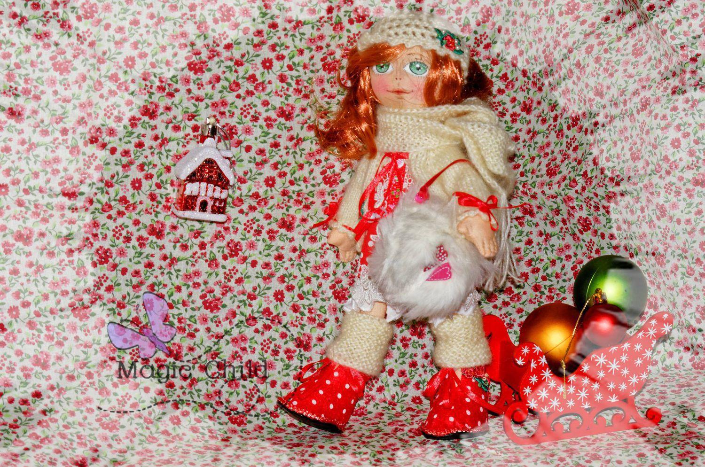 ручной работы. Ярмарка Мастеров - ручная работа. Купить Цвета Праздника. Handmade. Подарок, сюрприз, кукла в подарок, ярко-красный