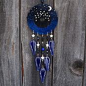 Фен-шуй и эзотерика handmade. Livemaster - original item Dream catcher Blue dream Catcher with glass feathers. Handmade.