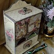 """Для дома и интерьера ручной работы. Ярмарка Мастеров - ручная работа Чайный буфетик """"Чайные розы"""". Handmade."""