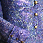 """Одежда ручной работы. Ярмарка Мастеров - ручная работа Жакет шерстяной валяный """" Лавандовые дали"""". Заказ - продан.. Handmade."""