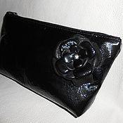 Сумки и аксессуары handmade. Livemaster - original item Cosmetic bag leather lacquer