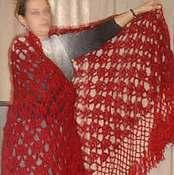 Аксессуары ручной работы. Ярмарка Мастеров - ручная работа Вишневая шаль. Handmade.