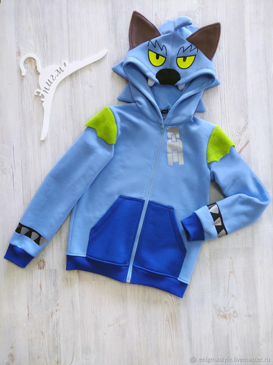 Leon Werewolf Bravo Stars Wolf Sweatshirt, Sweatshirt for Boy, Sweatshirts and hoodies, Novosibirsk,  Фото №1