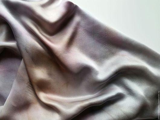 Шали, палантины ручной работы. Ярмарка Мастеров - ручная работа. Купить Платок Кварц дымчатый атласный  шелк Батик. Handmade.