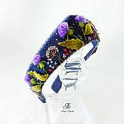 Украшения handmade. Livemaster - original item Denim headband Wild grass thistle. Handmade.