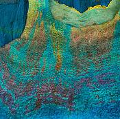 Одежда ручной работы. Ярмарка Мастеров - ручная работа Валяная туника Тропикана. Handmade.