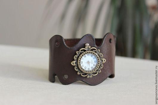 """Часы ручной работы. Ярмарка Мастеров - ручная работа. Купить Часы наручные  """"Шоколадная фантазия"""". Handmade. Коричневый, красивый браслет"""
