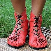Обувь ручной работы handmade. Livemaster - original item Moccasins made of genuine leather coral. Handmade.