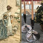 Винтаж handmade. Livemaster - original item Christmas Extravaganza... Paired candlesticks by Valerio Albarello, USA!. Handmade.