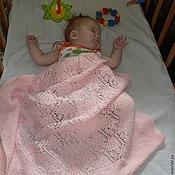 Для дома и интерьера ручной работы. Ярмарка Мастеров - ручная работа вязаное одеяло Розовое чудо. Handmade.