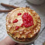 Сувениры и подарки handmade. Livemaster - original item Spoon with pancakes from polymer clay. Handmade.
