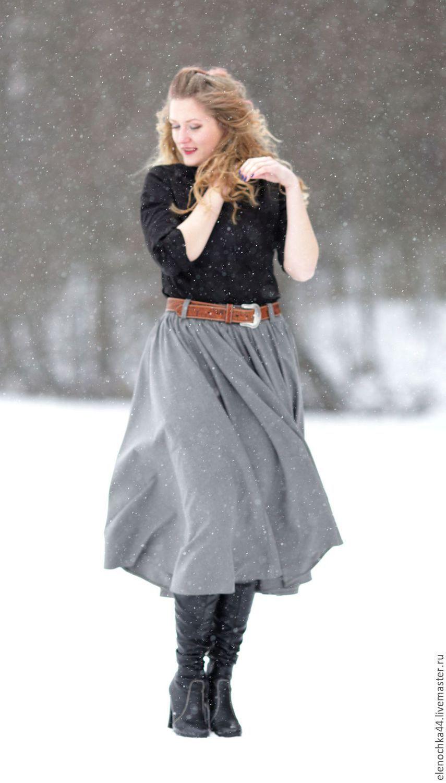 """Юбки ручной работы. Ярмарка Мастеров - ручная работа. Купить Расклешеная юбка """"Одри"""". Handmade. Зима, шерстяная юбка"""