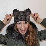 Аксессуары ручной работы. Ярмарка Мастеров - ручная работа Шапочка-кошка валяная. Handmade.