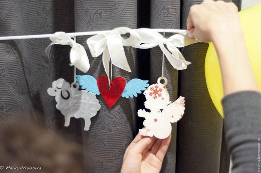 Новый год 2017 ручной работы. Ярмарка Мастеров - ручная работа. Купить Набор Новогодних игрушек ручной работы. Handmade. Комбинированный