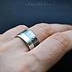 Кольца ручной работы. Ярмарка Мастеров - ручная работа. Купить 60/40 - широкое серебряное кольцо (серебро 925). Handmade. Кольцо