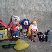 Куклы и игрушки ручной работы. Ярмарка Мастеров - ручная работа Сказка Репка в 2-х вариантах. Handmade.