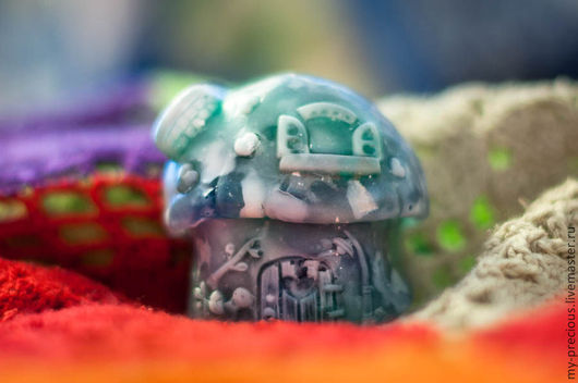 Мыло ручной работы. Ярмарка Мастеров - ручная работа. Купить Мыло «Снежный домик». Handmade. Белый, прозрачный, мыло в подарок