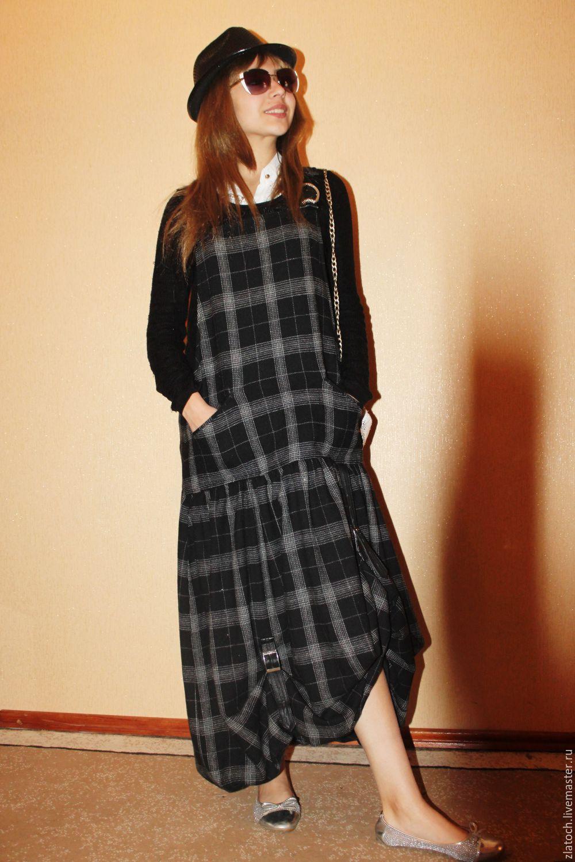 Зимнее платье бохо