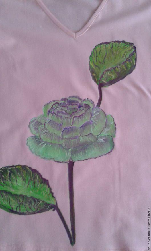 Кофты и свитера ручной работы. Ярмарка Мастеров - ручная работа. Купить Хлопковая кофточка с авторским рисунком. Handmade. Рисунок