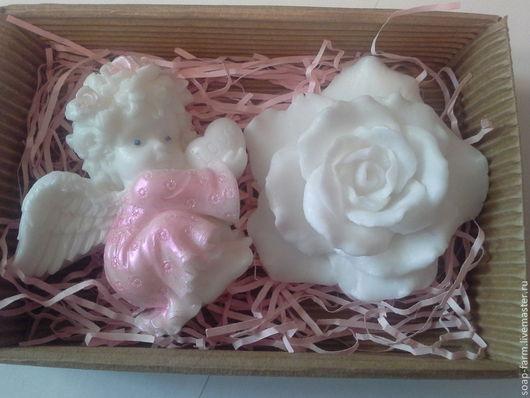 """Подарочные наборы косметики ручной работы. Ярмарка Мастеров - ручная работа. Купить Набор """"Ангел и роза"""". Мыло ручной работы. Handmade."""