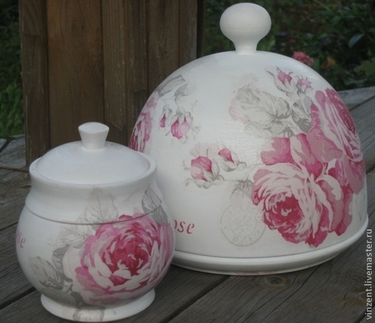 """Кухня ручной работы. Ярмарка Мастеров - ручная работа. Купить Набор для кухни """"Rose"""". Handmade. Белый, сахарница, подарок девушке"""