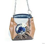 Классическая сумка ручной работы. Ярмарка Мастеров - ручная работа Сумка с брошью в стиле Гранж. Handmade.