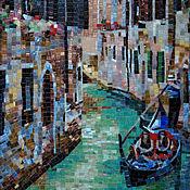 Венеция, канал. Картина из мозаики