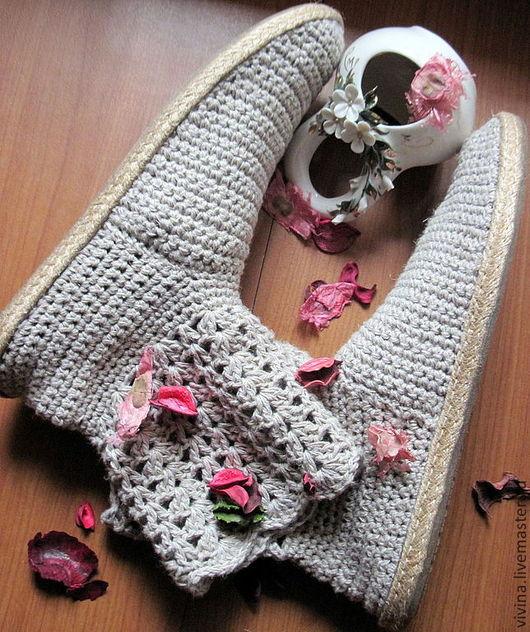 """Обувь ручной работы. Ярмарка Мастеров - ручная работа. Купить Сапожки """"Хуторок """". Handmade. Белый, сапожки ручной работы"""