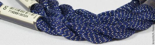 Вышивка ручной работы. Ярмарка Мастеров - ручная работа. Купить Anchor Pearl метал. синяя (7150) нить для вышивания. Handmade.