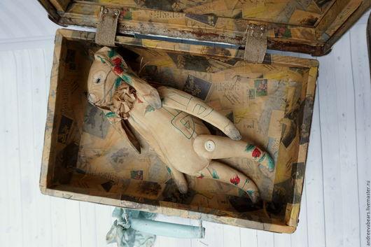 """Ароматизированные куклы ручной работы. Ярмарка Мастеров - ручная работа. Купить Заяц """"Клубникин"""". Handmade. Коричневый, винтажные ткани"""