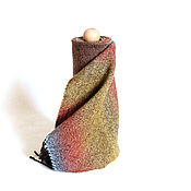 """Аксессуары ручной работы. Ярмарка Мастеров - ручная работа Шарф тканый """"Шоколадный апельсин"""" Женский шарф Тканый. Handmade."""