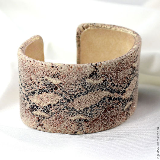 Браслеты ручной работы. Ярмарка Мастеров - ручная работа. Купить Браслет из натуральной кожи Песчаная Эфа. Handmade.
