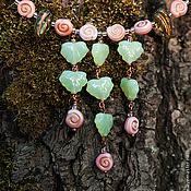 Украшения ручной работы. Ярмарка Мастеров - ручная работа Улитки в розовом саду. Handmade.