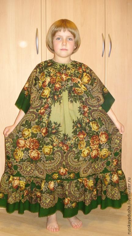 Одежда для девочек, ручной работы. Ярмарка Мастеров - ручная работа. Купить Платье для девочки в русском стиле из ППП. Handmade. Болотный