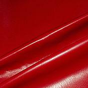 Кожа искусственная красная