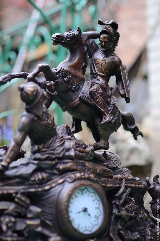 Часы для дома ручной работы. Ярмарка Мастеров - ручная работа. Купить Часы каминные. Handmade. Часы ручной работы, меч