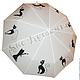 """Зонты ручной работы. Заказать Зонт с ручной росписью """"Коты"""". BelkaStyle -кеды, футболки, зонты. Ярмарка Мастеров. Женский зонт"""