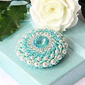 Brooches handmade. Livemaster - original item Tiffany brooch with Swarovski crystals. Handmade.