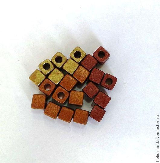 Для украшений ручной работы. Ярмарка Мастеров - ручная работа. Купить Керамические бусины кубики. Handmade. Керамика, оригинальное украшение