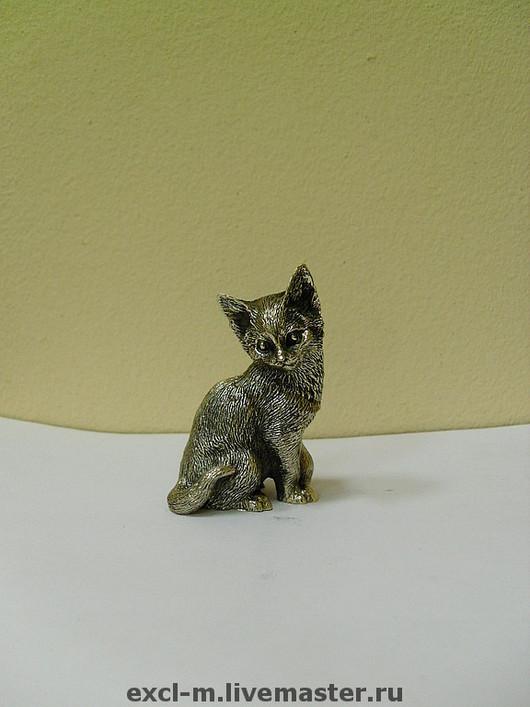"""Миниатюра ручной работы. Ярмарка Мастеров - ручная работа. Купить Статуэтка """"Кошка"""". Handmade. Кошка, статуэтка, бронза"""