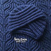 Аксессуары handmade. Livemaster - original item Set knitted Velvet Sky, turban and scarf - LIC. Handmade.