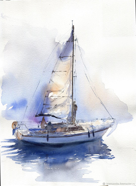картина постер корабль курсовой работе