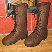 Обувь ручной работы. Ярмарка Мастеров - ручная работа Войлочные ботинки Tiroler Bergschaf. Handmade.