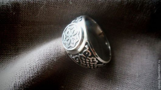 """Кольца ручной работы. Ярмарка Мастеров - ручная работа. Купить Кольцо """"Другой молвинец"""". Handmade. Славянский стиль, серебряное кольцо"""
