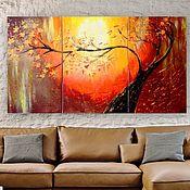 handmade. Livemaster - original item Painting triptych