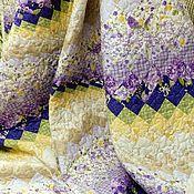 """Одеяла ручной работы. Ярмарка Мастеров - ручная работа Лоскутное покрывало """"WISTERIA"""" барджелло лоскутное одеяло. Handmade."""