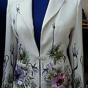 """Одежда ручной работы. Ярмарка Мастеров - ручная работа костюм женский брючный """" Нежность в цветах1""""авторская вышивка. Handmade."""